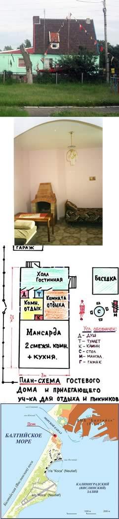 второй частный дом в аренду на Балтийской косе.
