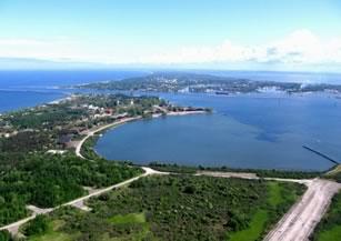 Вид на гавань Балтийской косы